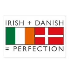 Irish Danish heritage flags Postcards (Package of