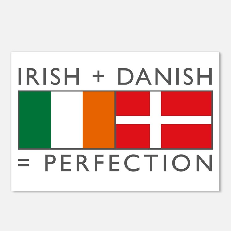 Irish Danish heritage flags Postcards (Package of