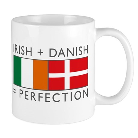 Irish Danish heritage flags Mug