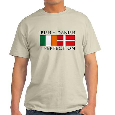 Irish Danish heritage flags Light T-Shirt