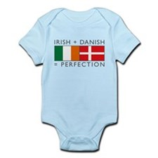 Irish Danish heritage flags Infant Bodysuit