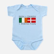 Irish Danish heritage flags Infant Bodysuit