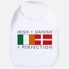 Irish Danish heritage flags Bib