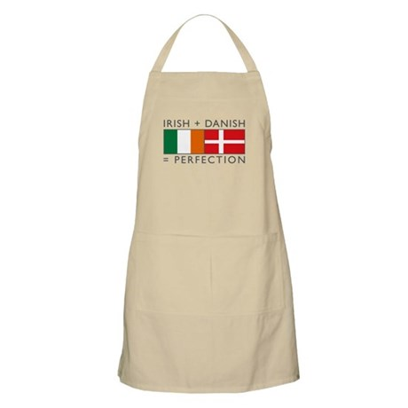 Irish Danish heritage flags Apron