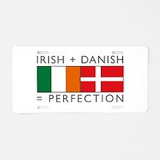 Irish Danish heritage flags Aluminum License Plate