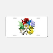 Eastern Star Floral Emblems Aluminum License Plate