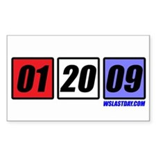 Date in Blocks Rectangle Decal