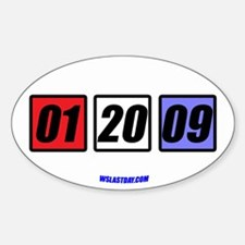 Date in Blocks Oval Decal