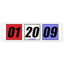Date in Blocks Bumper Car Sticker