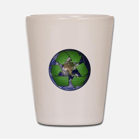 Green Recycle on Earth Shot Glass
