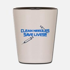 Clean Needles Save Lives Shot Glass