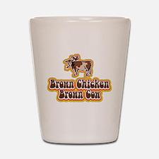 Brown Chicken Brown Cow Shot Glass