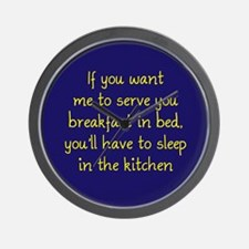 Breakfast in Bed Wall Clock