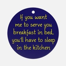 Breakfast in Bed Ornament (Round)
