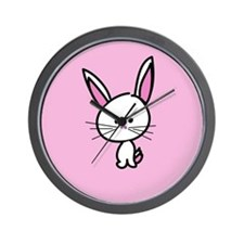 Pink Easter Bunny!! Wall Clock
