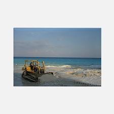 Bob Cat on the Beach Rectangle Magnet