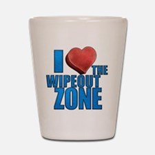 I Heart the Wipeout Zone Shot Glass