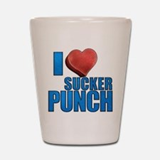 I Heart Sucker Punch Shot Glass