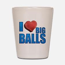 I Heart Big Balls Shot Glass