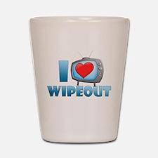 I Heart Wipeout Shot Glass