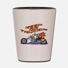 KEEP ON TRUCKING Shot Glass