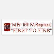 1st Bn 15th Field Artillery Bumper Bumper Sticker