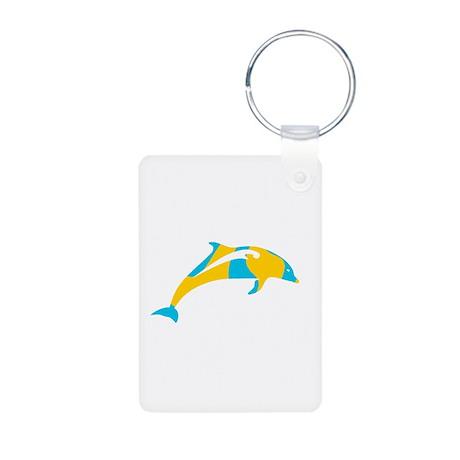 Dolphin Aluminum Photo Keychain