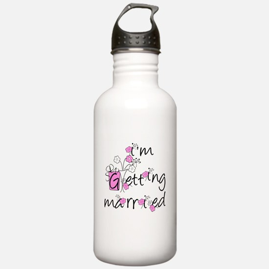 Flowers I'm Getting Married Water Bottle