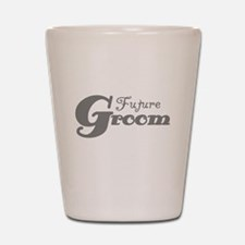 Future Groom Gray Shot Glass