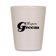 Future Groom Black Shot Glass