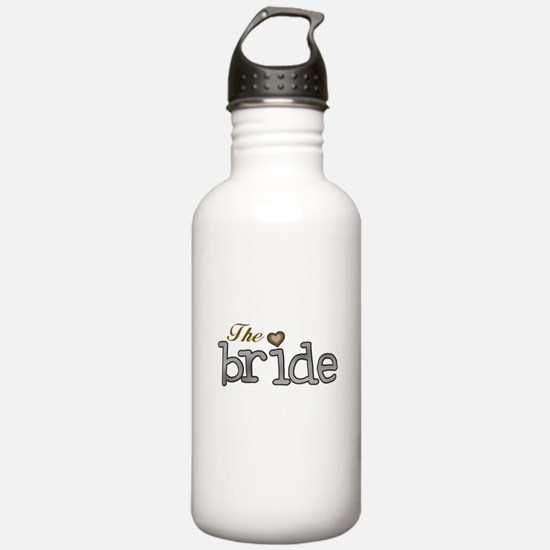 Silver and Gold Bride Water Bottle