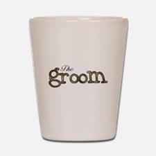 Silver and Gold Groom Shot Glass