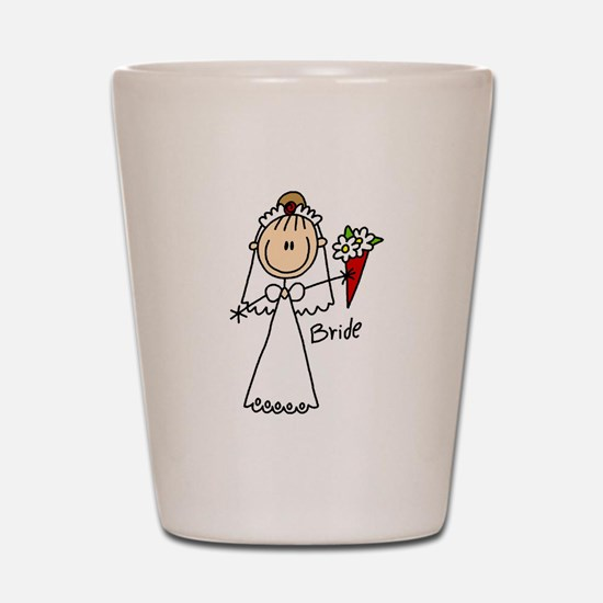 Stick Figure Bride Shot Glass