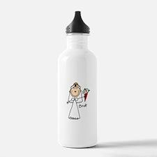 Stick Figure Bride Sports Water Bottle