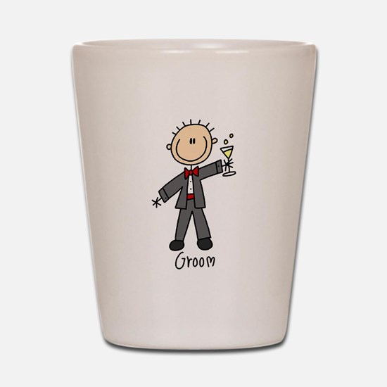 Stick Figure Groom Shot Glass