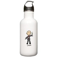 Stick Figure Groom Water Bottle
