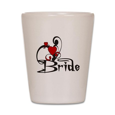 Red/Black Bride Shot Glass
