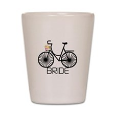 Bicycle Bride Shot Glass