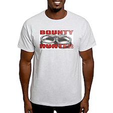 BOUNTY HUNTER FRONT/BACK Ash Grey T-Shirt