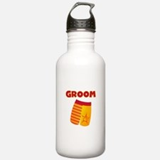 Swim Trunks Groom Water Bottle