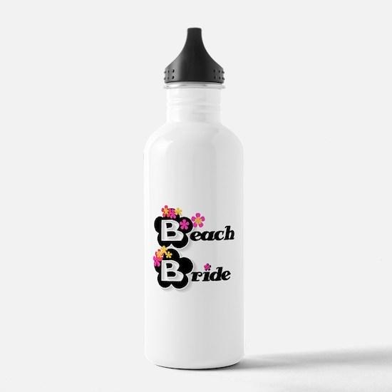 Black & White Beach Bride Water Bottle