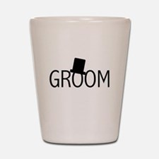 Top Hat Groom Shot Glass