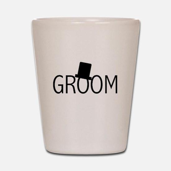 Top Hat Groom Shot Glass