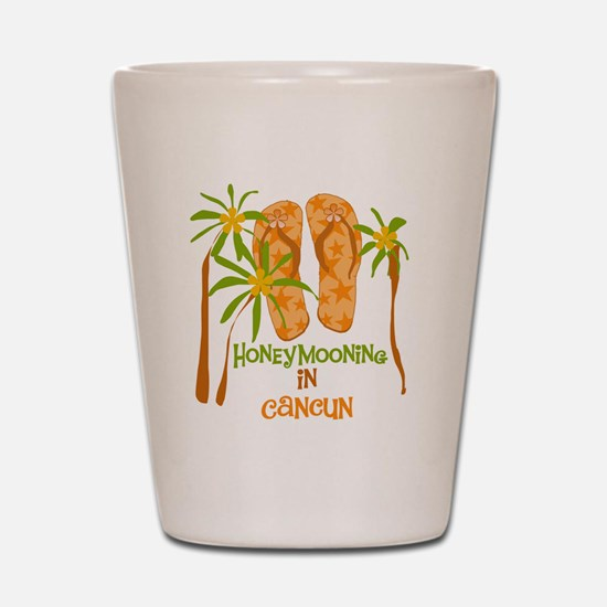 Honeymoon Cancun Shot Glass