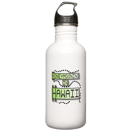 Green Honeymoon Hawaii Stainless Water Bottle 1.0L