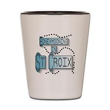 Blue Honeymoon St. Croix Shot Glass