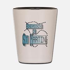 Blue Honeymoon St. Martin Shot Glass