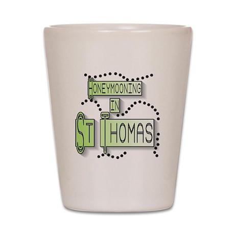 Honeymoon St. Thomas Shot Glass