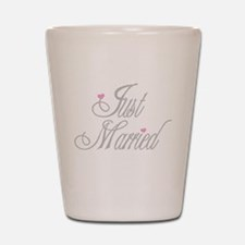 Classy Grays Just Married Shot Glass