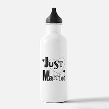 Just Married Black Water Bottle